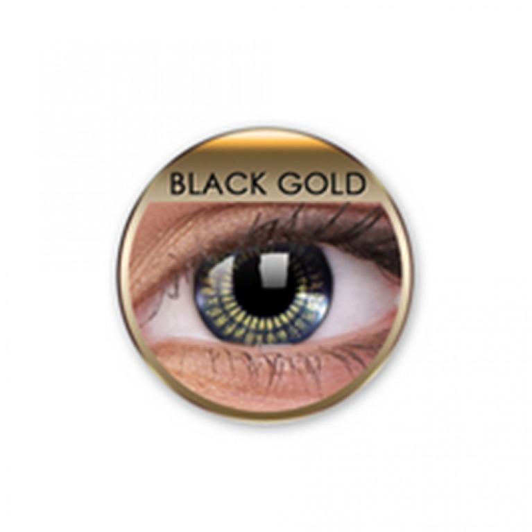 Stars&Jewel Black Gold ohne Stärke, (2 Linsen), 0 dpt