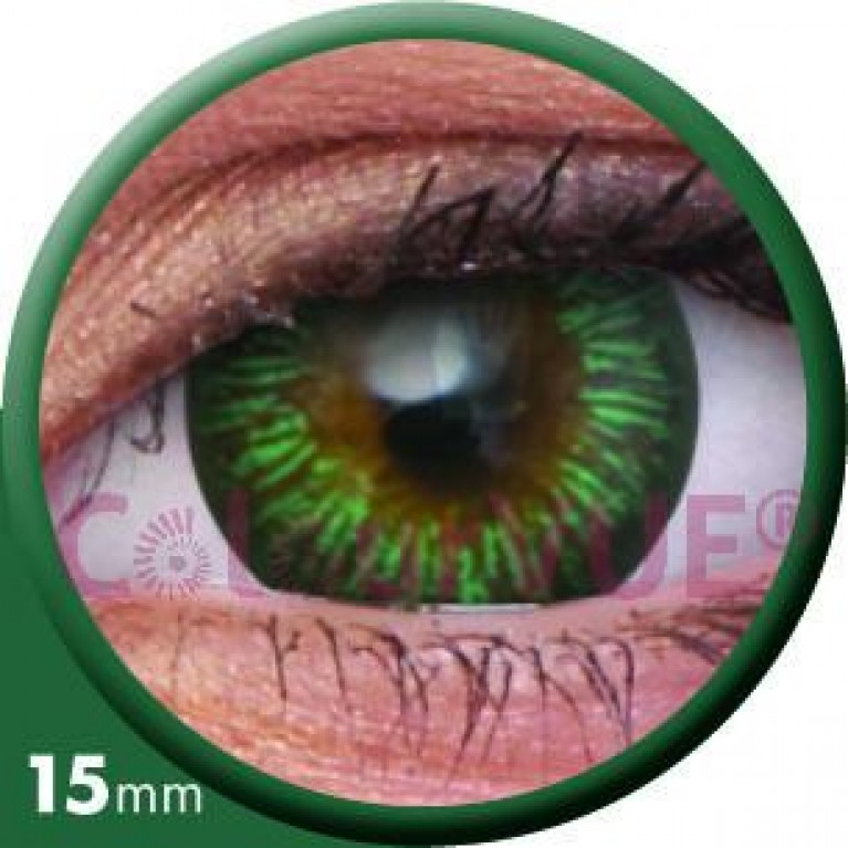 Big Eyes Enchanter Green ohne Stärke, (2 Linsen), 0 dpt