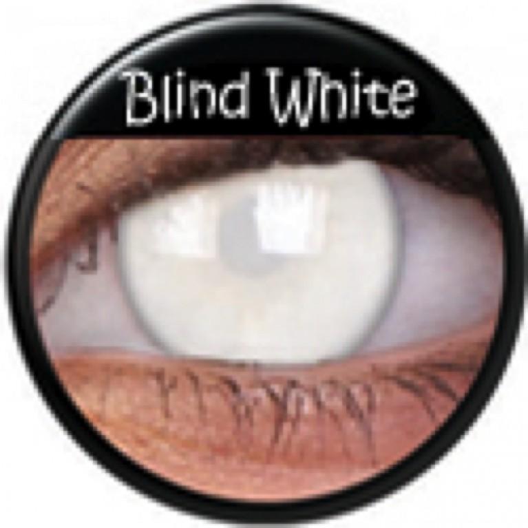 Funny Lens Blind White ohne Stärke