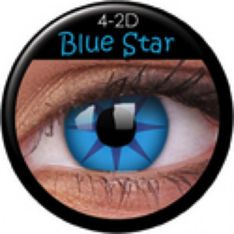 Funny Lens Blue Star ohne Stärke