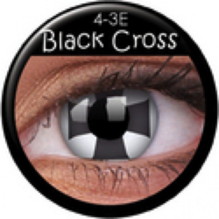 Funny Lens Black Cross ohne Stärke