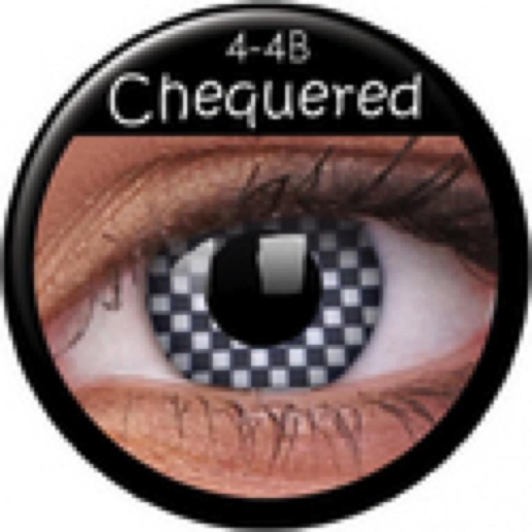 Funny Lens Chequered ohne Stärke