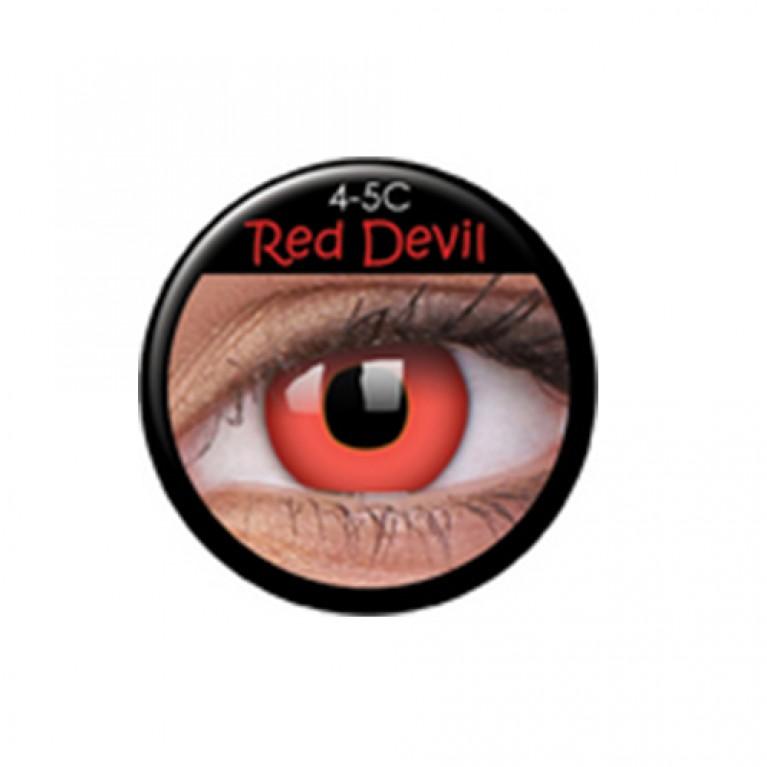 Funny Lens Red Devil TAGESLINSEN ohne Stärke