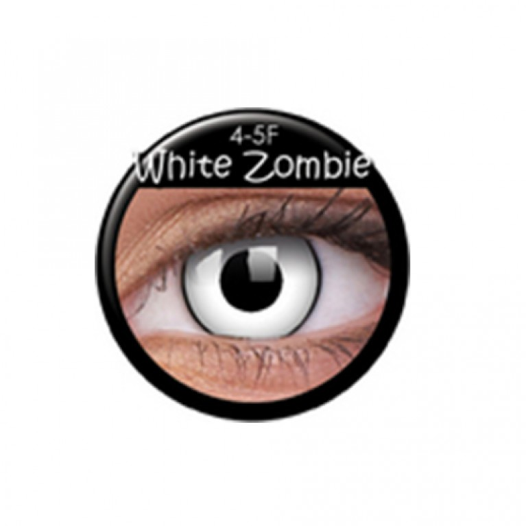 Funny Lens White Zombie TAGESLINSEN ohne Stärke