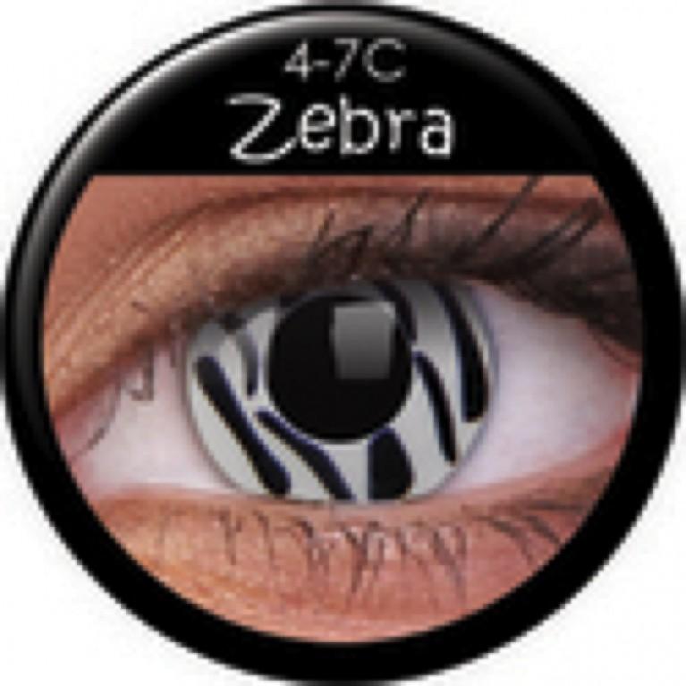 Funny Lens Zebra ohne Stärke