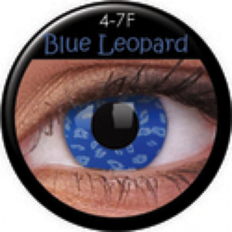 Funny Lens Blue Leopard ohne Stärke