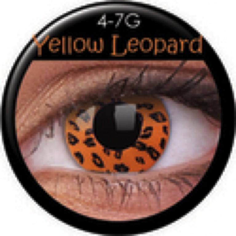 Funny Lens Yellow Leopard ohne Stärke