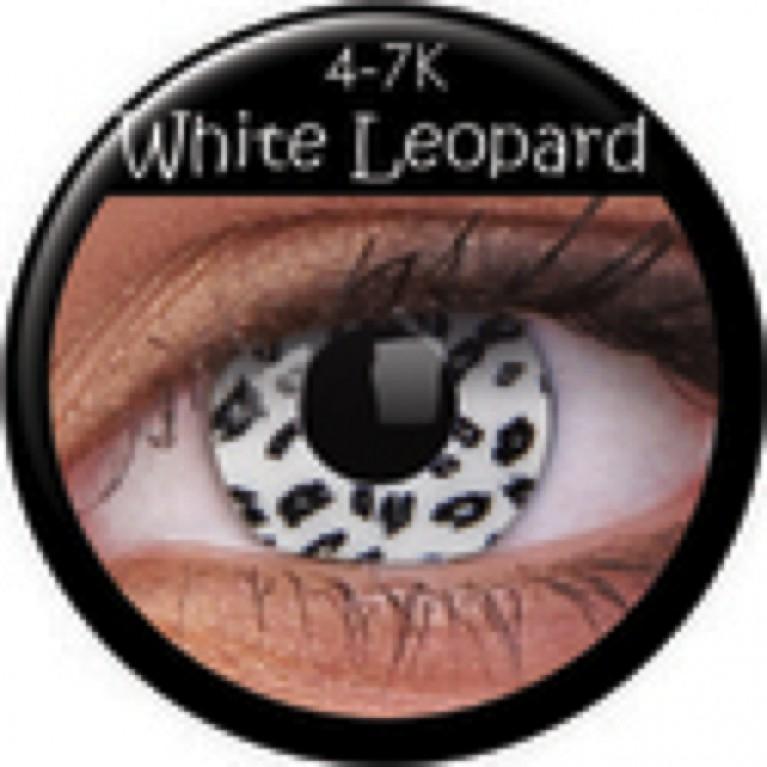Funny Lens White Leopard ohne Stärke