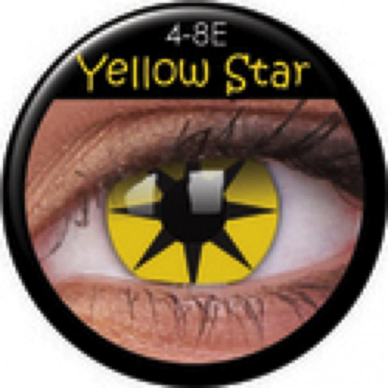 Funny Lens Yellow Star ohne Stärke