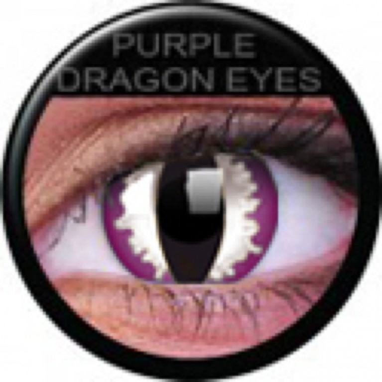 Funny Lens Purple Dragon ohne Stärke