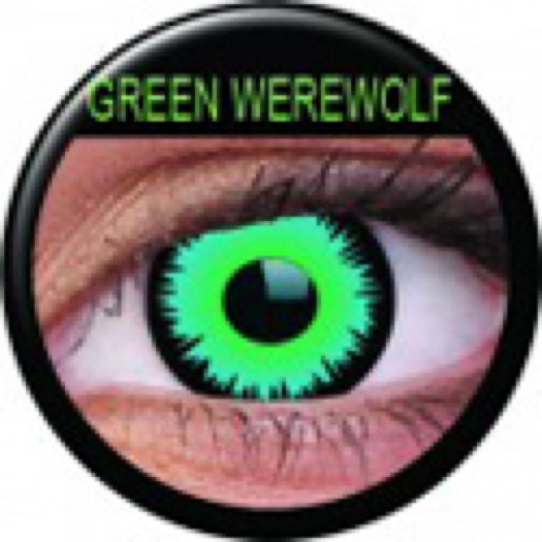 Funny Lens Green Werewolf mit Stärke