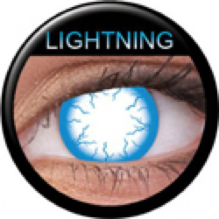 Funny Lens Lightening Blue ohne Stärke