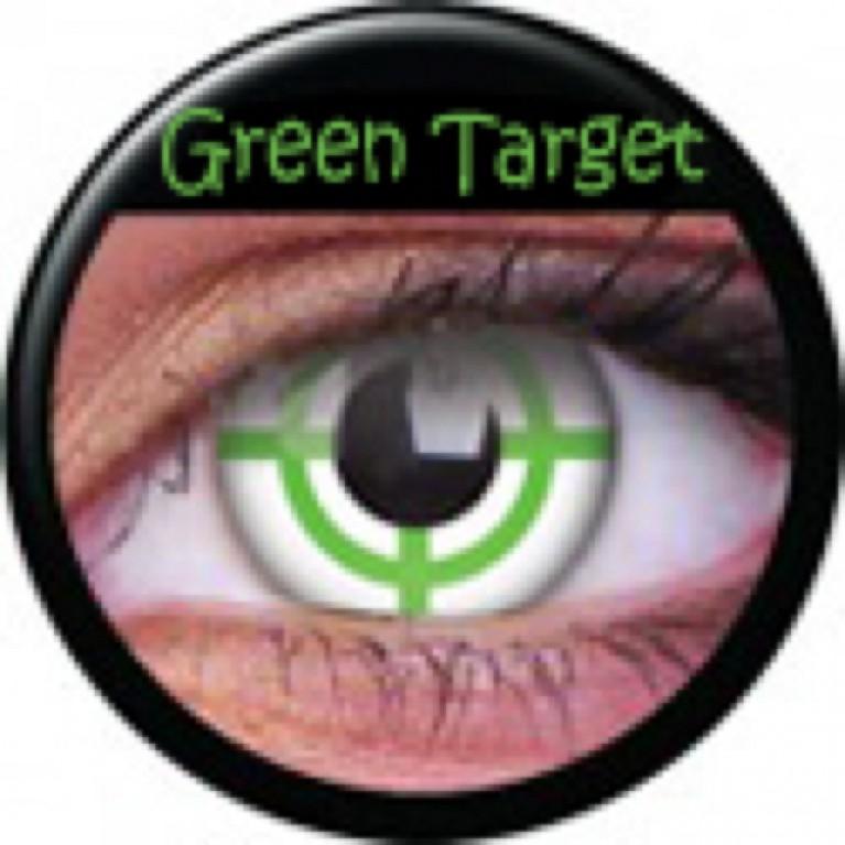 Funny Lens Green Target ohne Stärke