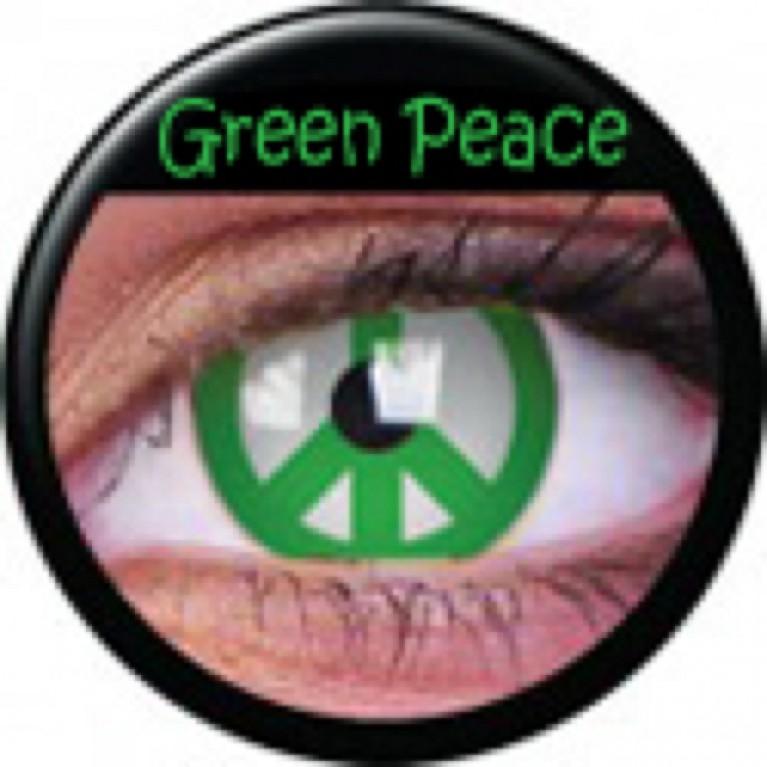 Funny Lens Green Peace ohne Stärke