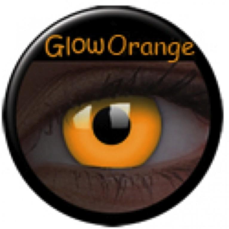 Glow Orange ohne Stärke, (2 Linsen), 0 dpt