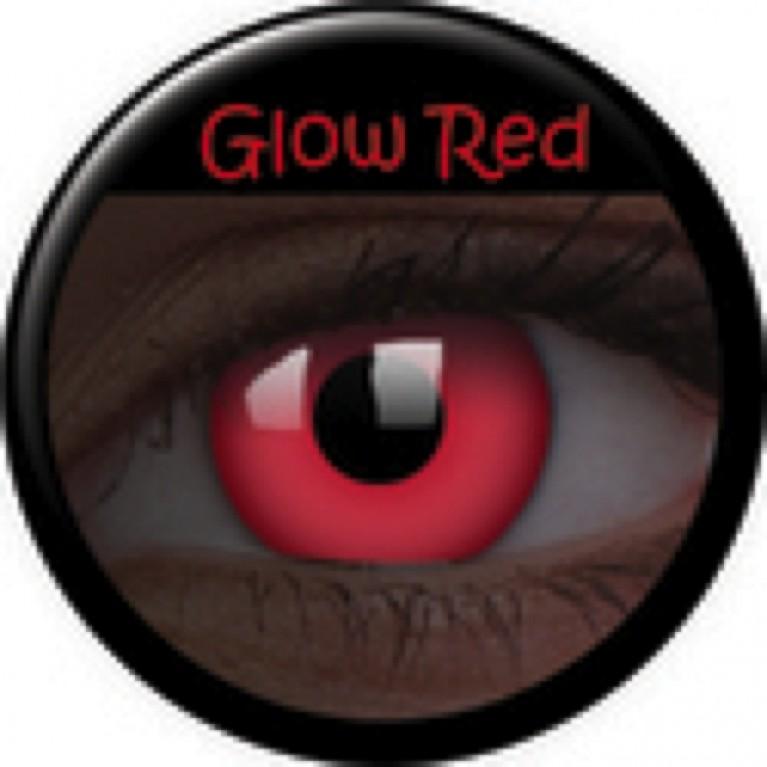 Glow Red ohne Stärke, (2 Linsen), 0 dpt