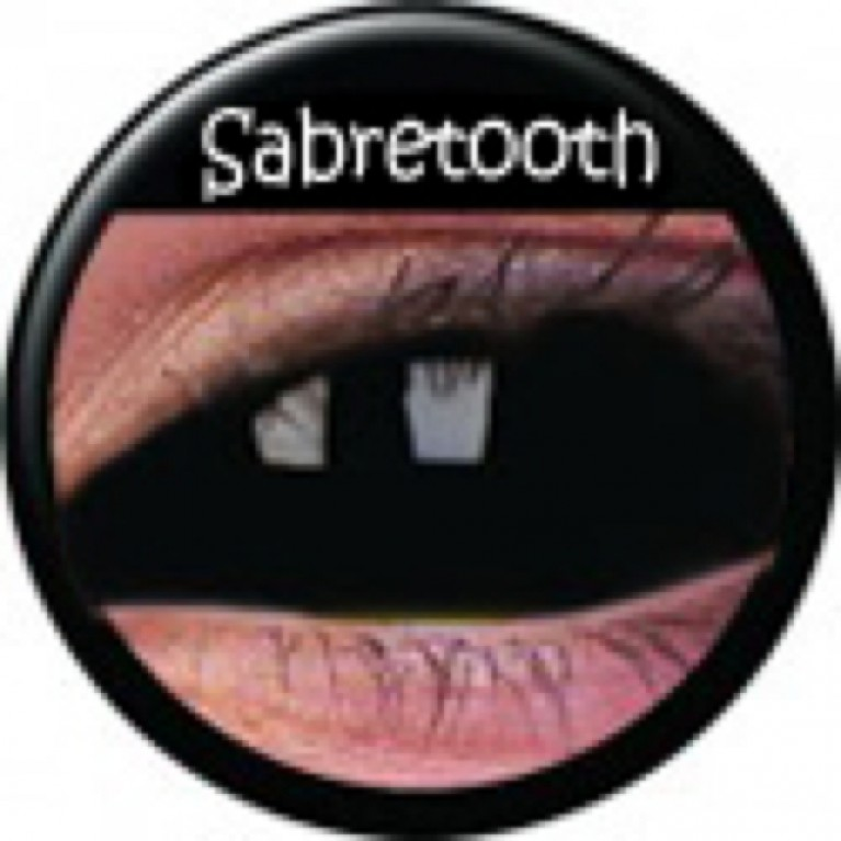 Sclera Sabretooth ohne Stärke, (2 Linsen), 0 dpt