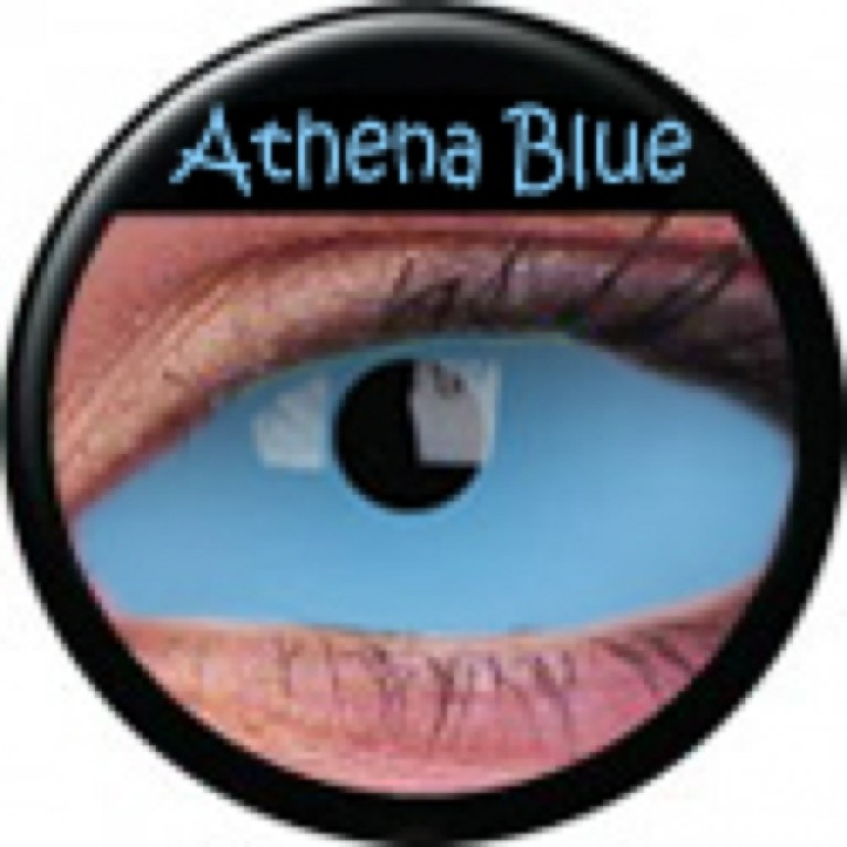 Sclera Athena Blue ohne Stärke, (2 Linsen), 0 dpt