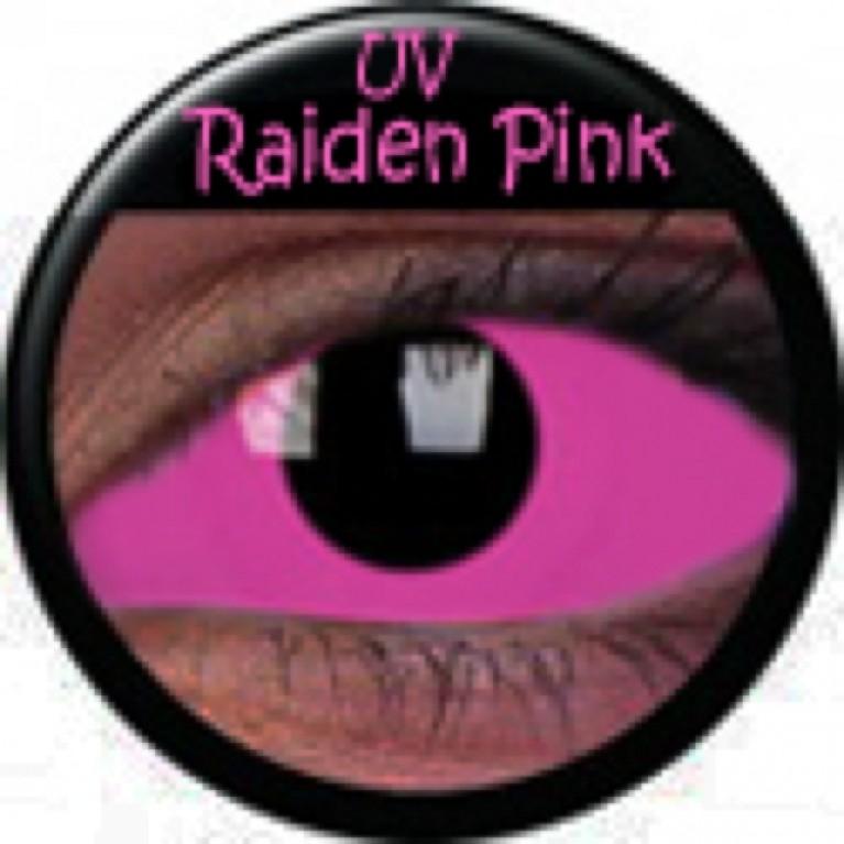 Sclera UV Raiden Pink ohne Stärke, (2 Linsen), 0 dpt