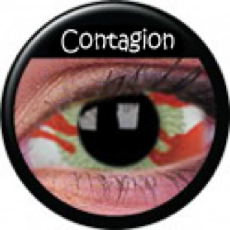 Sclera Contagion ohne Stärke, (2 Linsen), 0 dpt
