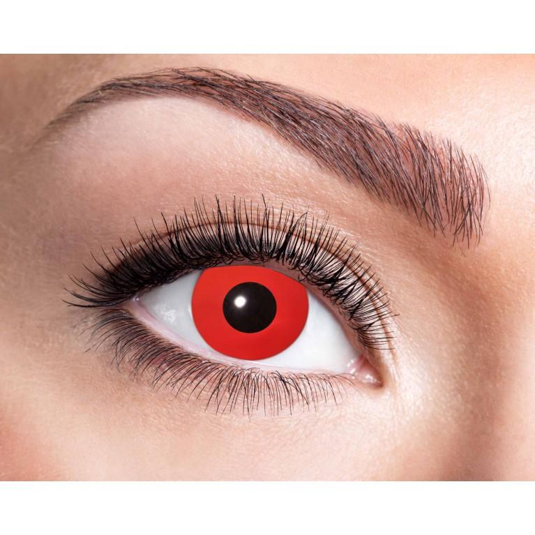 Funny Lens Rot ohne Stärke - Red Devil