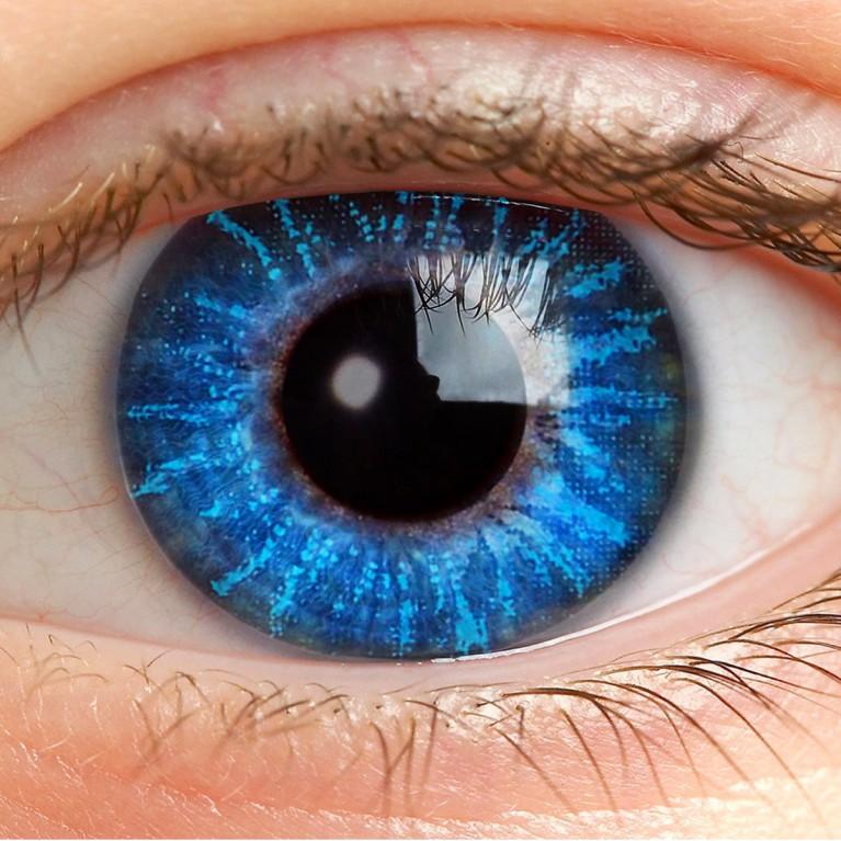 Farblinsen Blau Ohne Stärke - Deep Blue