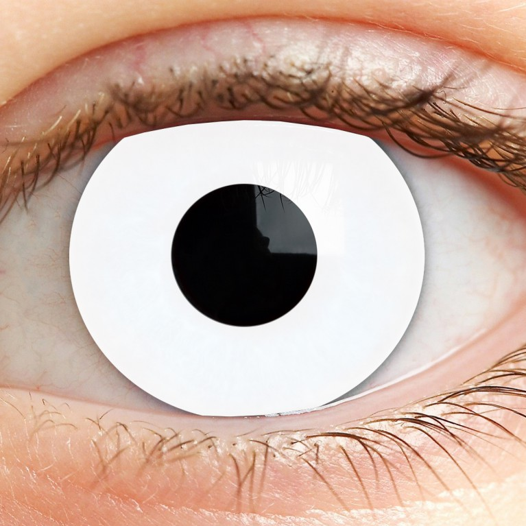 Funny Lens Weiß ohne Stärke - White Out
