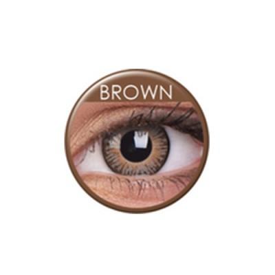 3 Tones Brown ohne Stärke, (2 Linsen), 0 dpt