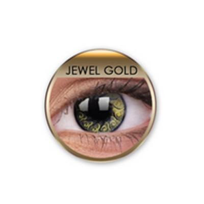Stars&Jewel Jewel Gold ohne Stärke, (2 Linsen), 0 dpt