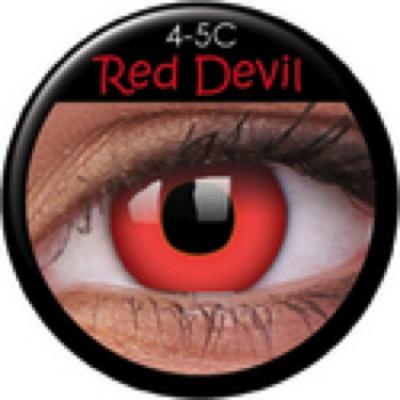 Funny Lens Red Devil mit Stärke