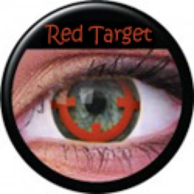 Funny Lens Red Target ohne Stärke