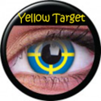 Funny Lens Yellow Target ohne Stärke
