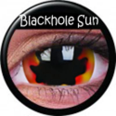 Mini-Sclera Blackhole Sun ohne Stärke, (2 Linsen), 0 dpt