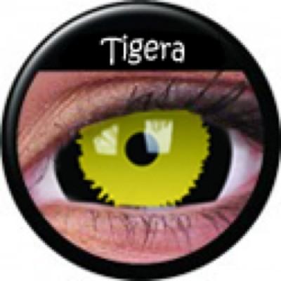 Mini-Sclera Tigera ohne Stärke, (2 Linsen), 0 dpt