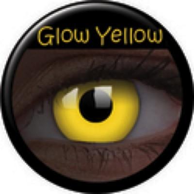 Glow Yellow ohne Stärke, (2 Linsen), 0 dpt