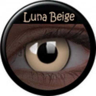 Glow Luna Beige ohne Stärke, (2 Linsen), 0 dpt