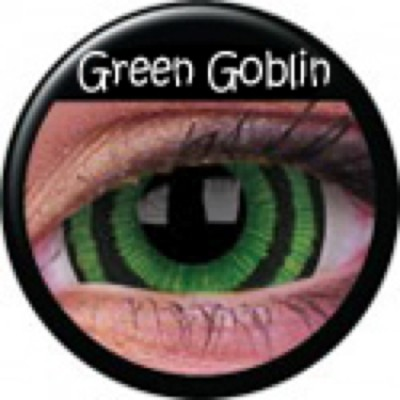 Mini-Sclera Green Goblin ohne Stärke, (2 Linsen), 0 dpt