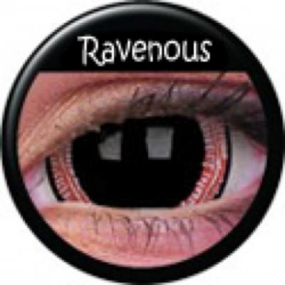 Mini-Sclera Ravenous ohne Stärke, (2 Linsen), 0 dpt