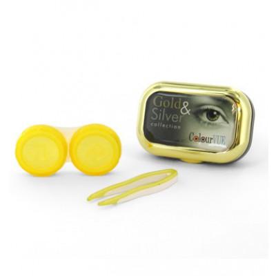 Kontaktlinsenbehälter Gold mit Spiegel